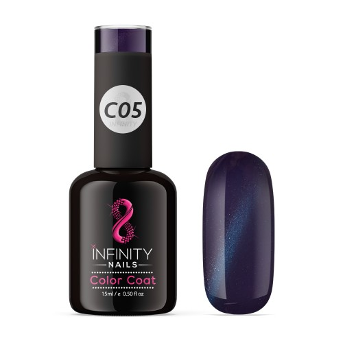 C05 INFINITY NAILS Cat Eye Black Metallic nail gel polish