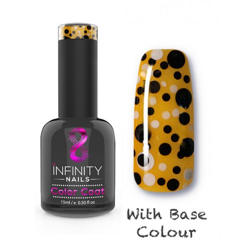 G03 INFINITY NAILS Black and White Glitter nail gel polish