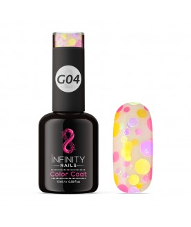 G04 INFINITY NAILS Pink Purple Orange Glitter nail gel polish