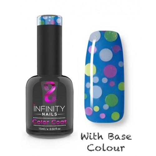 G06 INFINITY NAILS White Pink Green Glitter nail gel polish