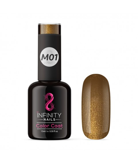 M01 INFINITY NAILS Brown Metallic Glitter nail gel polish