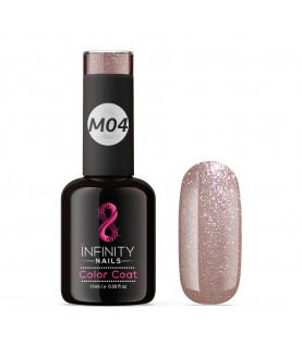 M04 INFINITY NAILS Rose Gold Metallic Platinum nail gel polish