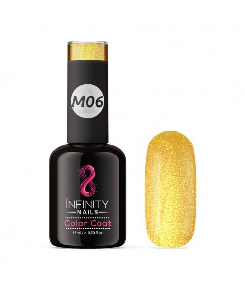 M06 INFINITY NAILS Gold Metallic Platinum nail gel polish