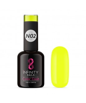 N02 INFINITY NAILS Electric Yellow NEON nail gel polish