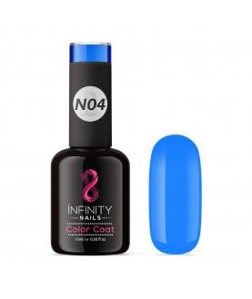 N04 INFINITY NAILS Electric Blue NEON nail gel polish