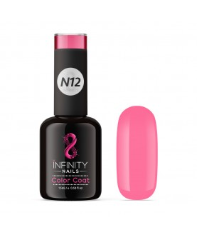 N12 INFINITY NAILS Rose Pink NEON nail gel polish