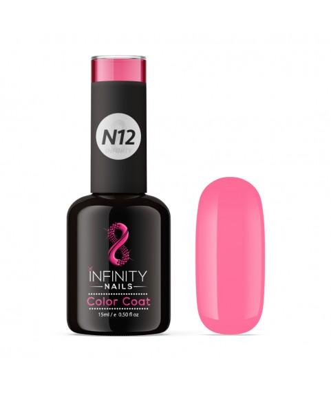 N12 INFINITY NAILS Rose Pink NEON nail gel polish