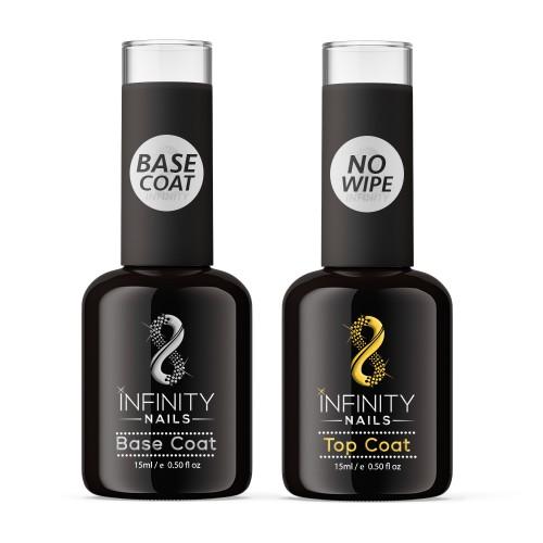INFINITY NAILS No Wipe Top and Base coat nail gel polish