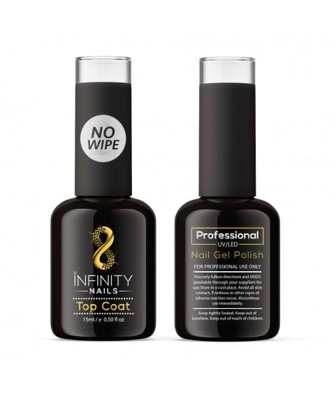 INFINITY NAILS No Wipe Top coat nail gel polish