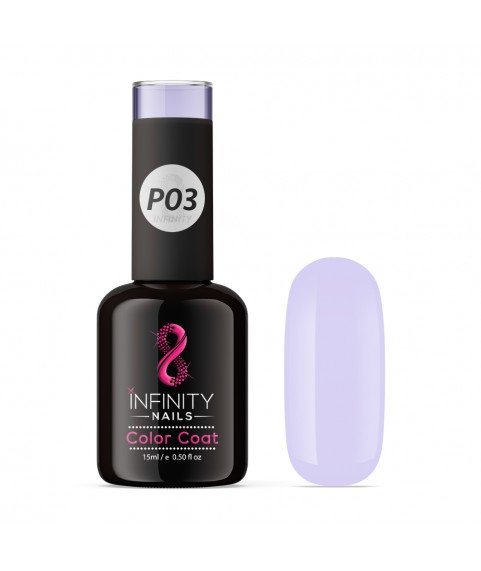 P03 INFINITY NAILS Soft Purple Pastel NEON nail gel polish