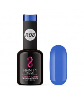 R08 INFINITY NAILS Shiny Sea Blue nail gel polish