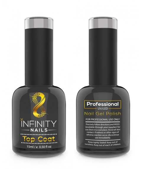 INFINITY NAILS No Wipe Top coat nail gel polish