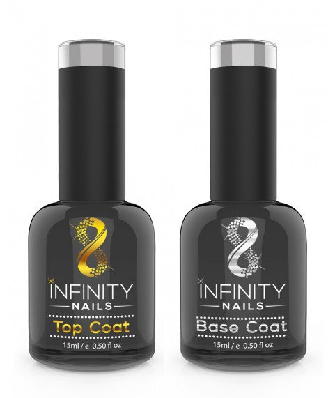 INFINITY NAILS No Wipe Top and Base coat nail gel polish