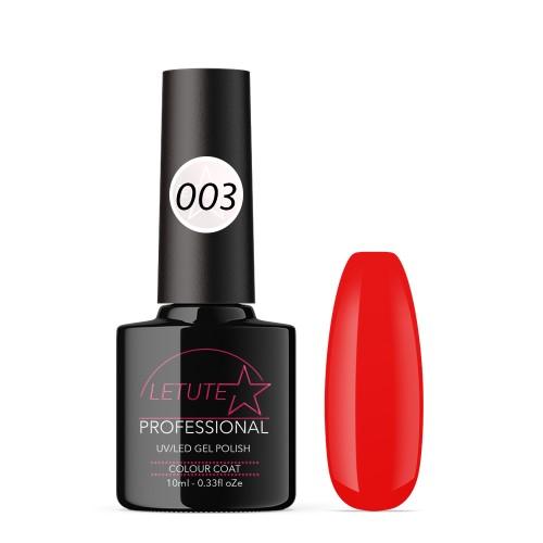 003 LETUTE™ Pure Red Soak Off UV/LED Nail Gel Polish