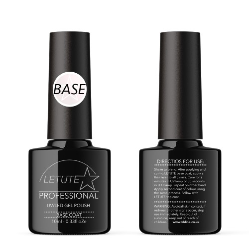 LETUTE Base Coat - Professional UV/LED Soak Off Nail Gel Polish 10ml
