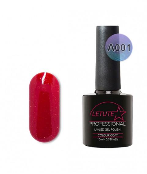 A001 LETUTE Red Glitter A Series Soak Off Gel Nail Polish 10ml