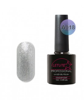 A018 LETUTE Silver Glitter A Series Soak Off Gel Nail Polish 10ml