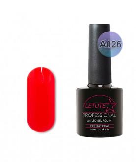 A026 LETUTE Hot Neon Red A Series Soak Off Gel Nail Polish 10ml