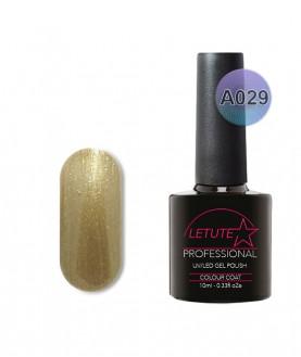A029 LETUTE Gold Green Shimmer A Series Soak Off Gel Nail Polish 10ml
