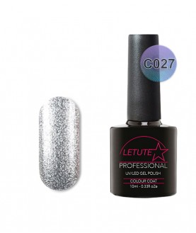 C027 LETUTE Silver Chrome Metallic C Series Soak Off Gel Nail Polish 10ml