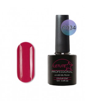 C034 LETUTE Neon Red C Series Soak Off Gel Nail Polish 10ml