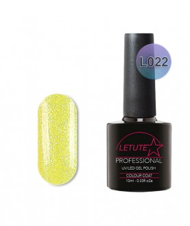 L22 LETUTE Yellow Glitter Luxury L Series Soak Off Gel Nail Polish 10ml