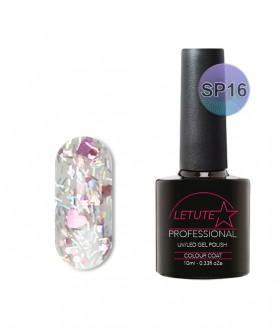 SP16 LETUTE Rose Silver Heart Glitter SuperStar Series Soak Off Gel Nail 10ml