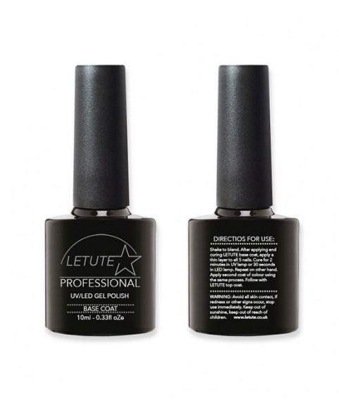 LETUTE Base Coat - Professional UV/LED Soak Off Nail Gel Polish 10ml