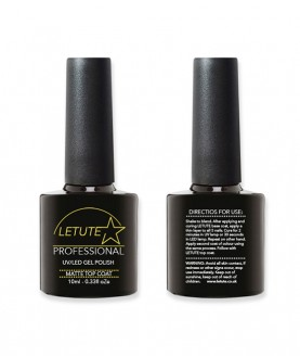 LETUTE Matte Top Coat - Professional UV/LED Soak Off Nail Gel Polish 10ml