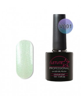V01 LETUTE Green Pearl Glitter VIP V Series Soak Off Gel Nail Polish 10ml