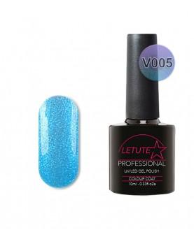 V05 LETUTE Blue Pearl Glitter VIP V Series Soak Off Gel Nail Polish 10ml