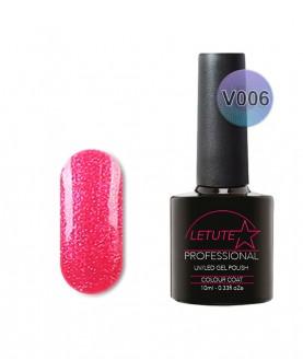 V06 LETUTE Hot Rose Pearl Glitter VIP V Series Soak Off Gel Nail Polish 10ml