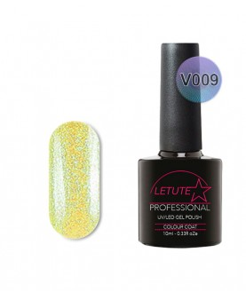 V09 LETUTE Yellow Pearl Glitter VIP V Series Soak Off Gel Nail Polish 10ml
