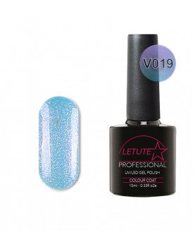 V19 LETUTE Ocean Blue Pearl Glitter VIP V Series Soak Off Gel Nail Polish 10ml