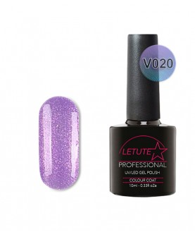 V20 LETUTE Hot Purple Pearl Glitter VIP V Series Soak Off Gel Nail Polish 10ml