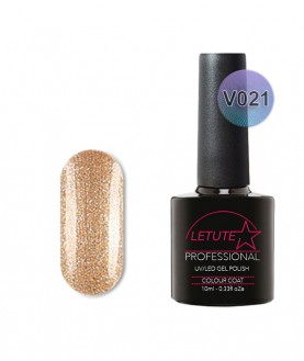 V21 LETUTE Red Gold Pearl Glitter VIP V Series Soak Off Gel Nail Polish 10ml