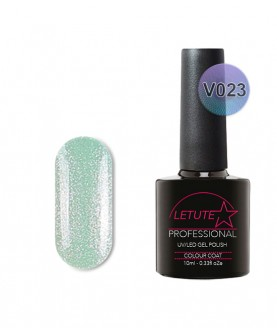 V23 LETUTE Blue Pearl Gold Glitter VIP V Series Soak Off Gel Nail Polish 10ml