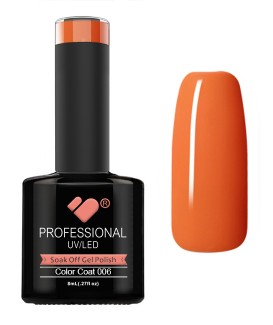 006 VB Line Hot Salmon Orange gel nail polish
