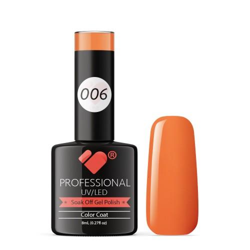 006 VB Line Hot Salmon Orange gel nail polish