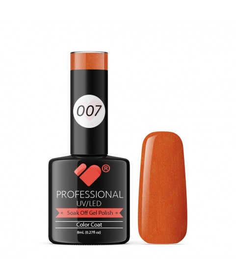 007 VB Line Orange Vermillion gel nail polish