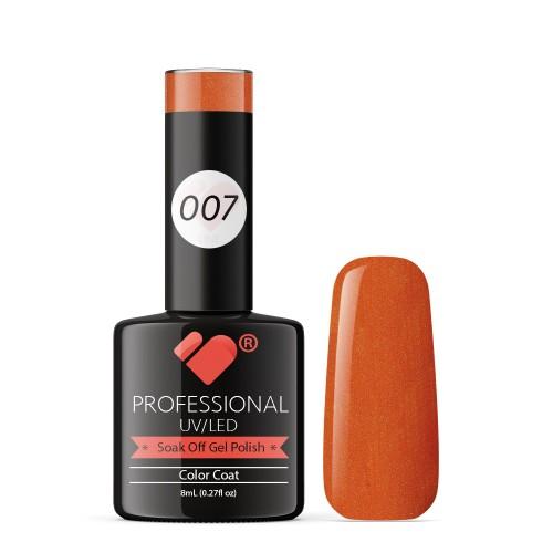 007 VB Line Orange Vermillion gel nail polish