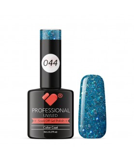 044 VB Line Blue Mist Glitter gel nail polish