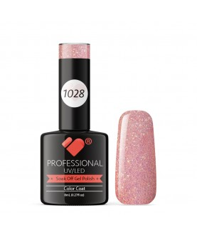 1028 VB Line Flavoured Freesia Rose Gold gel nail polish