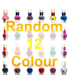 12 VB Line Kids Nail Polish Non Toxic Washable for Children Choice of 12 Shades