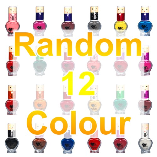 12 VB Line Kids Nail Polish Non Toxic Washable for Children Choice of 12 Shades