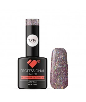 1215 VB Line Purple Silver Glitter gel nail polish