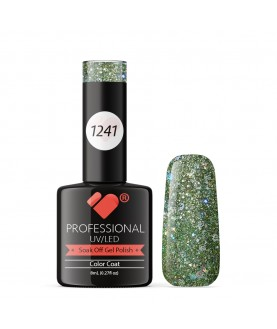 1241 VB Line Light Grey Silver Glitter gel nail polish