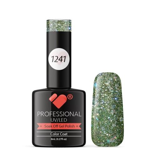 1241 VB Line Light Grey Silver Glitter gel nail polish
