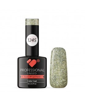 1245 VB Line Silver Glitter Explosion gel nail polish