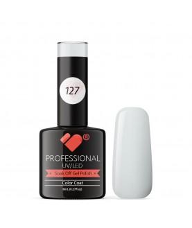 127 VB Line Cream White gel nail polish